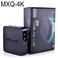 Wholesale 1g Sd Cards - Smart TV Box MXQ-4K Quad Core 8G 1G RK3229 KD17.3 Android 5.1 TV Box suport 4K 3D WIFI SD Card OTH107