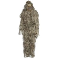 CS camuffamento Suits Set 3D Bionic Foglia Disguise Uniforme caccia Woodland <b>Sniper Ghillie</b> Suit caccia Jungle Cloth treno militare