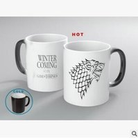 Wholesale Temperature Mug Color Changing Cup - Creative Game of Thrones Ceramic Mugs Color Changing Mugs Magic Cup Temperature Induction Mugs Change Colour Coffee Cups CCA8099 48pcs