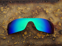 Wholesale Uva Uvb Sunglasses - BOTT Polarized Replacement Lenses for Oakley Batwolf Sunglasses Ice Blue 100% UVA UVB