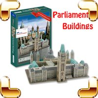 New Year Gift Buildings du Parlement 3D Puzzle Build In Paper Puzzle Simulated Design History Building Bricolage Collection Gift
