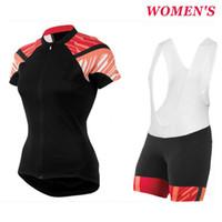 laranja ciclismo jersey mulheres venda por atacado-Das mulheres Preto-Laranja Pro equipe ciclismo jersey e shorts respirável Ropa ciclismo mujer MTB uniformes ciclista camiseta 2017