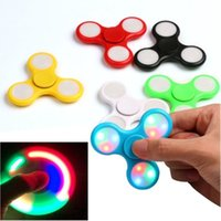 LED Light Fidget Spinner Finger ABS EDC Mano Spinner Tri per bambini Autismo ADHD 5 Stili Ansia Stress Relief Focus Handspinner