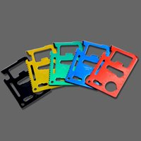 Wholesale Multi Function Survival Card - Multi Function Knife Colorful Outdoors Portable Stainless Steel Card Knives Used For Camp Seek Survival Essential Equipment 1 2cy A