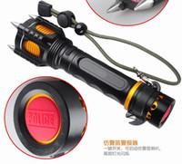 Wholesale Mini Self Defense Flashlight - 2200LM XM-LT6 LED Flashlight Torch Self-defense linterna led tactical lampe torche +18650 Rechargeable battery + AC CAR charger