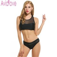 Wholesale Top Brand Women S Suits - Avidlove Brand Sexy Women Set Two Piece Outfits Crop Top and Pants Set Casual Fitness Stretch Bathing Suits Summer Beach Cloth