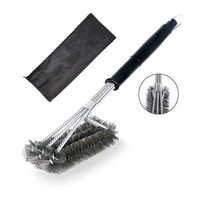 Wholesale 45 CM Profession Grill Brushes in Best BBQ Cleaning Brush Grilling Barbecue Essential Tools Durable Safe and Effective Black