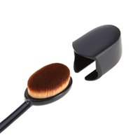 Wholesale Holder For Toothbrush - Black Plastic Protective Cover for Makeup Cosmetic oval Toothbrush Brush Head Portable Holder Brushes Caps Keep Clean