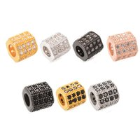 Wholesale rhodium spacer beads resale online - Newest Hexagon Micro Pave Spacer Beads Lead Cadmium Free Color ICYS012 Size mm