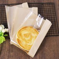 Wholesale Pastry Bags Packaging - 26*16*4cm Kraft Paper Packing Gift Bags Cookies, Candy, Snacks, Handmade soap, Pastries Packaging Bags Oil Proof Food Bag