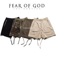 Wholesale Fitness God - Fear Of God Shorts Men Summer Solid Fashion FOG Straight Capris Fit Casual Mens Shorts Fitness Fear Of God Shorts