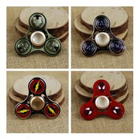 as show spiderman superman - Captain America Metal HandSpinner Fingertips Spiral Finger Fidget Spinner EDC Hand Spinner Aluminum alloy Spiderman Superman Avenger