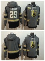 Wholesale Hooded Sweatshirt Xxl - Men Vegas Golden Knights Hoody Ice Hockey Pullover 29 Marc-Andre Fleury Hooded For Sport Fans Gray All Stitched Hoodies Sweatshirts