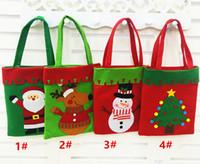 Wholesale Christmas Tree Books - 20*40cm Santa gift bag Santa Claus Socks Christmas Candy Book gift Bag Christmas Decoration Supplies For HomeChristmas Drop Ornaments