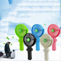 mini caja a mano al por mayor-NUEVO Handy Usb Fan Mango plegable Mini ventiladores eléctricos Copo de nieve Portátil de mano para regalos de oficina en casa CAJA DE VENTA AL POR MENOR DHL