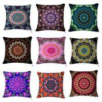 Wholesale Decorative Bohemian Pillows - Bohemian Pillow Case Style Flower Mandala Cushion Cover Linen Pillow Covers Plant Sofa Car Seat Decorative Pillowcase Bedding Supplies