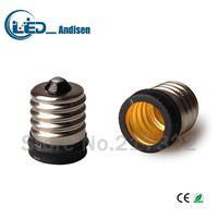 Wholesale E17 E14 Adapter - E17 TO E14 adapter Conversion socket High quality material fireproof material E17 socket adapter Lamp holder
