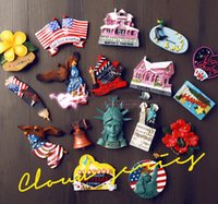Wholesale Souvenir Fridge Magnets - Statue Of Liberty New York USA Tourism Souvenir 3D Fridge Magnets Creative Home Decortion Refrigerator Magnetic Stickers Gift