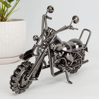 Wholesale Ornament House - Motorbike Motorcycle Decor Ornaments Vintage Handmade House Decoration For Modern Home Living Room Bedroom Office Decor