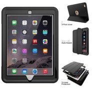 Wholesale Ipad Smart Cover Shell - For Apple New iPad 9.7 2017 A1823 A1822 Shockproof Armor Hybrid Defender Kickstand Case Cover W  Bulit-in Front Protective case