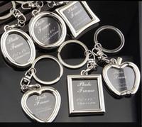 coração amante imagem venda por atacado-6 modelos photo frame keychain liga medalhão amante imagem chave chaveiro anéis coração apple pingentes para mulheres homens aniversário presente 240241