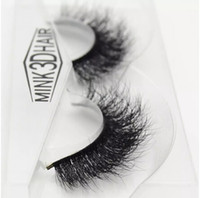 Wholesale Real Mink Fur Lashes - Hot 3d mink lashes wholesale 100% real mink fur Handmade crossing lashes individual strip thick lash 09 free shipping