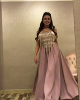 Wholesale Green Fairy Pictures - 2017 Prom Dresses Rusty Pink Fairy Floor Length Party Dresses with Off Shoulder Blingbling Beaded Tasseled Cape and Removable Black Ribbon