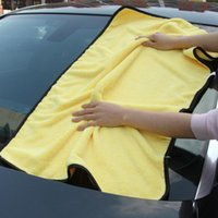 Wholesale Microfiber Wash Car - Large Size Microfiber Car Cleaning Towel Cloth Multifunctional Wash Washing Drying Cloths 92*56cm Yellow Big Promotion