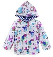Wholesale Wholesale Childrens Sweatshirts - 2017 Boys Girls Childrens Outwear Windproof Rrainproof Raincoat Clothing Cute Graffiti Hoodies Spring Autumn Kids Sweatshirts Enfant Clothes