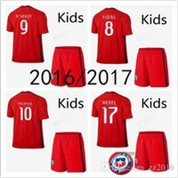 Wholesale Shorts Teen - 2016 2017 Chile Kids Jerseys child teens Shirt SANCHEZ VALDIVIA VIDAL ALEXIS 16 17 America's Cup Wholesalers Sportswear rugby