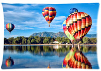Wholesale Custom Printing Balloons - 2pcs Custom Colorado Balloon Pattern Zippered Cotton Polyester Pillow Case 20x30 (Twin sides)
