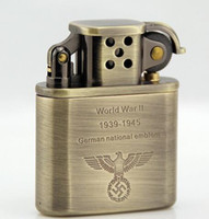 Wholesale Shell Kerosene - Zorro bronze prince type restoring ancient ways eagle fine copper shell kerosene lighter German world war ii