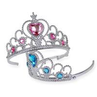 niños de tiara al por mayor-Horquillas Tiara Crown Hair Sticks Clips Barrettes para Niños Regalo de Navidad Hair Pin Bobby Pin Barrettes Head Hair Jewelry IB295