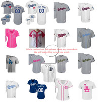 Wholesale Star Boy Shirt - 2017 Male Girls Boys Toddle Custom LA Dodgers stars&stripes father memorial mother cool flex baseball jerseys  T-shirts White Navy Grey Pink
