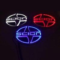 Wholesale Scion Wholesale - 5D Car Logo Light Case For Scion 12.5*8.5cm Car Badge Light Auto LED Logo Auto Emblem Light