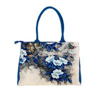 Wholesale Digital Print Handbags - Wholesale-bags handbags women famous brands Digital Printing beautiful floral canvas shoulder bags bolsa feminina bag female B006