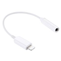 Wholesale Cable Jack For Earphone - 10 pieces Lot Earphone Adapter Lightning to 3.5mm AUX Cable Audio Jack Female Converter Headphone Jack Adapter For iPhone 7 6 6s plus