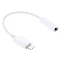 Wholesale Cable Converters - 10 pieces Lot Earphone Adapter Lightning to 3.5mm AUX Cable Audio Jack Female Converter Headphone Jack Adapter For iPhone 7 6 6s plus