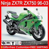 Wholesale 1997 kawasaki ninja for for sale - Group buy 8Gifts Colors For KAWASAKI NINJA ZX7R NO67 Factory green ZX750 ZX R ZX R Fairing
