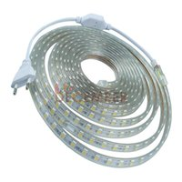 60 LEDs / M SMD5050 RVB / Rouge / Vert / Bleu / Jaune / Chaud / Cool Blanc LED Strip Lights IP68 imperméable LED Neon Sign lumière AC 110-240V