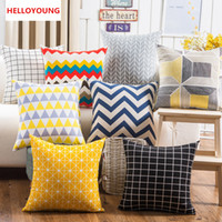 Wholesale luxury throws - BZ115 Luxury Cushion Cover Pillow Case Home Textiles supplies Lumbar Pillow Lattice stripes decorative throw pillows chair seat