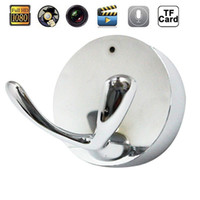 Wholesale Retail Clothing Hangers - 1080P 720P Spy Camera Clothes Hook Wall Hanger Hidden Camera DVR Video Recorder Home Security Nanny Cam Silver Black In Retail Box