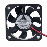 radiateur ventilateur 12v achat en gros de-Vente en gros - 10 pièces lot Gdstime 2pin 12V 5010 50 x 50 x 10mm 50 MM DC Radiateur Refroidisseur Ventilateur