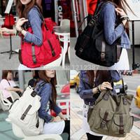 Wholesale Handbag Tote Korea - Wholesale-Fashion Korea Style Lady Girls Casual Canvas Large Tote Bag Handbag Shoulder Bag HB88