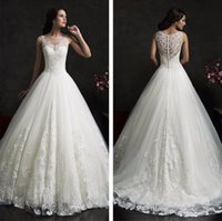 Discount wedding dresses sleeves veils - Free shipping New Fashionable High Quality Lace Princess Wedding dresses 2017 Sexy Luxury Wedding Gowns Free Veil