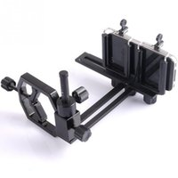 Wholesale Double Camera Tablet - Wholesale- Multi-function Double Clip Holder Telescope Holding Camera Mounting Metal Phone Adapter Mount Tablets Holding Tools