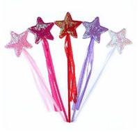 Wholesale Angels Princess Star Sequin Ribbon Rod Sticks Magic Wand Colors Assorted