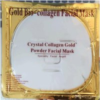 Wholesale Cleaning Beauty Sheet - Facial Mask Gold Bio - Collagen mud Face sheet Masks Golden Crystal Powder Moisturizing Anti aging Whitening Skin Care Smoother beauty DHL