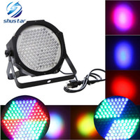 dj led quad par lights al por mayor-4 unids 127 LED llevó la luz del escenario AC110-240V LED Flat SlimPar Quad Light LED DJ Wash Light Stage Uplighting No Ruido
