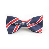 Wholesale student neckties - Wholesale- School Boys Bow Tie Stripe Student Necktie